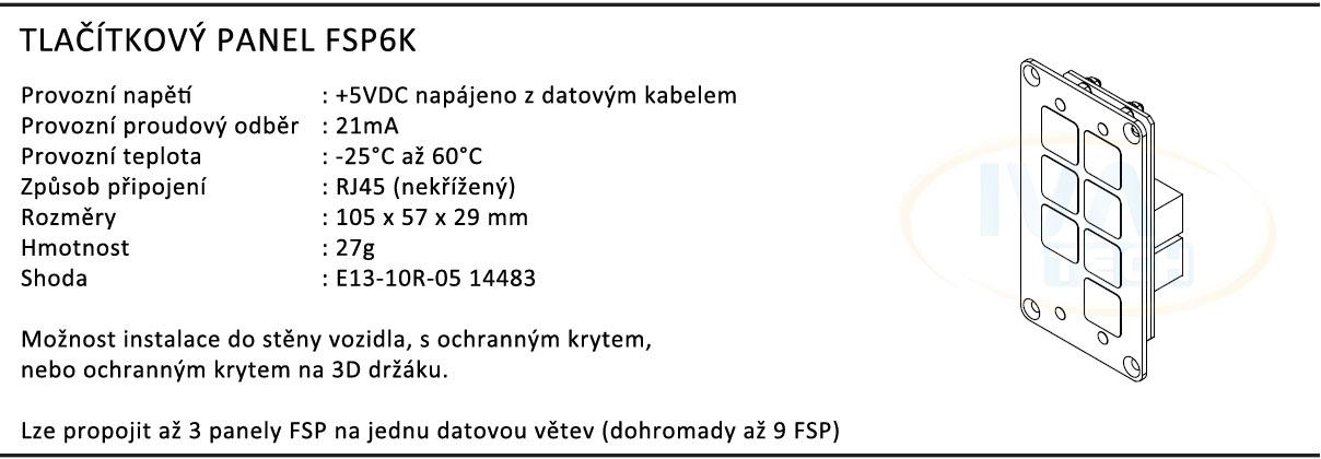 ovládací panel fsp